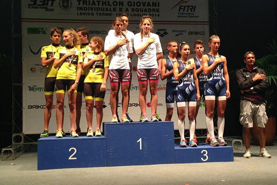 Largo ai giovani nel triathlon di Levico Terme.