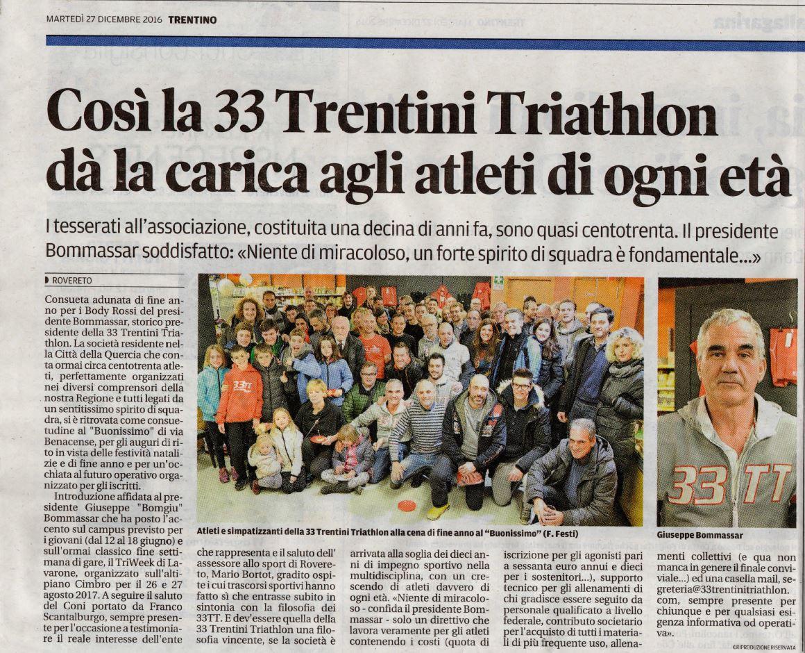 Il quotidiano Il Trentino ci omaggia